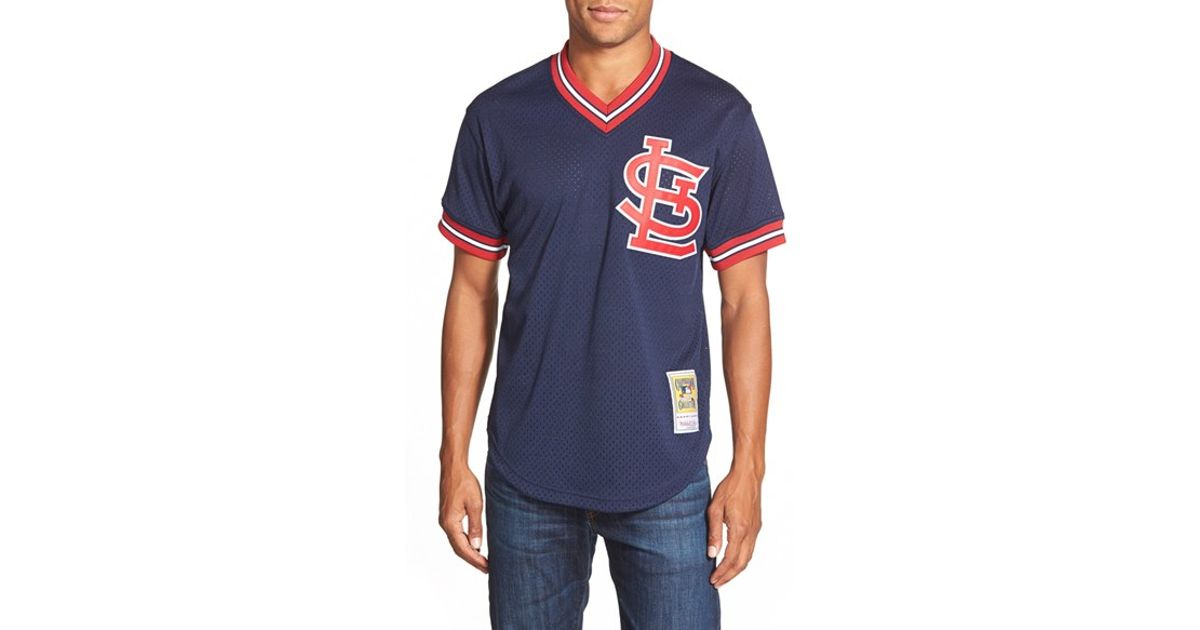 on sale 2215c 0649c Mitchell & Ness Blue 'ozzie Smith - St. Louis Cardinals' Authentic Mesh Bp  Jersey for men