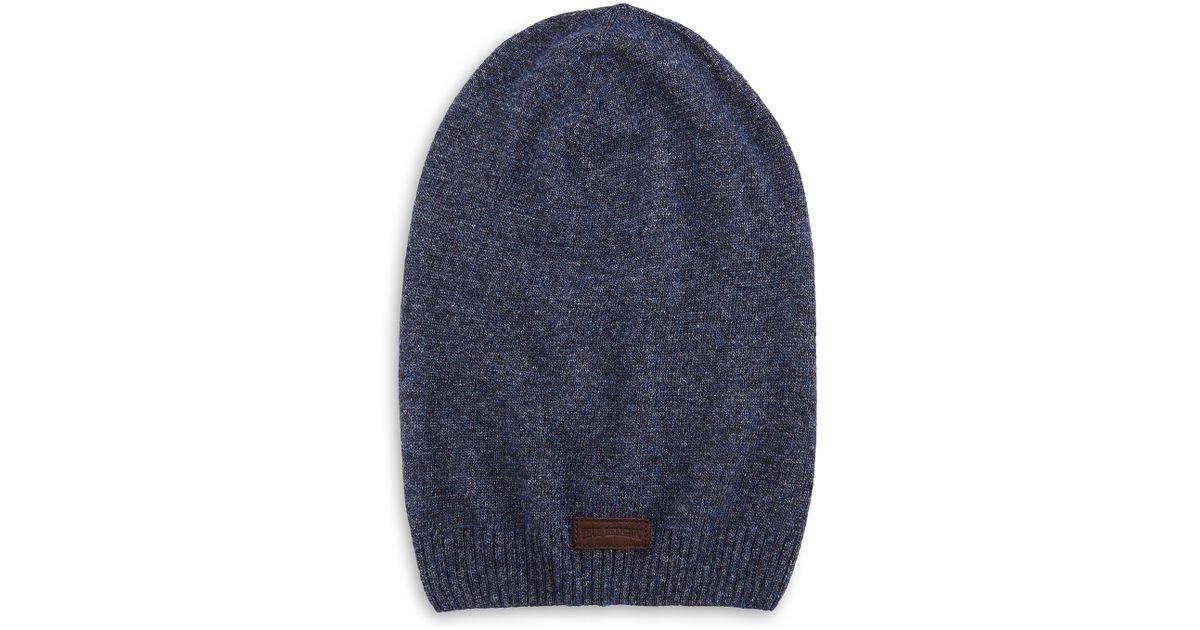 e2b1fe2d6de Lyst - True Religion Ribbed Slouchy Beanie Hat in Blue