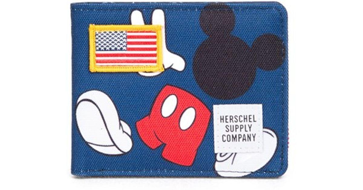 5d4c4c325bd Lyst - Herschel Supply Co. X Disney  roy  Wallet in Blue for Men