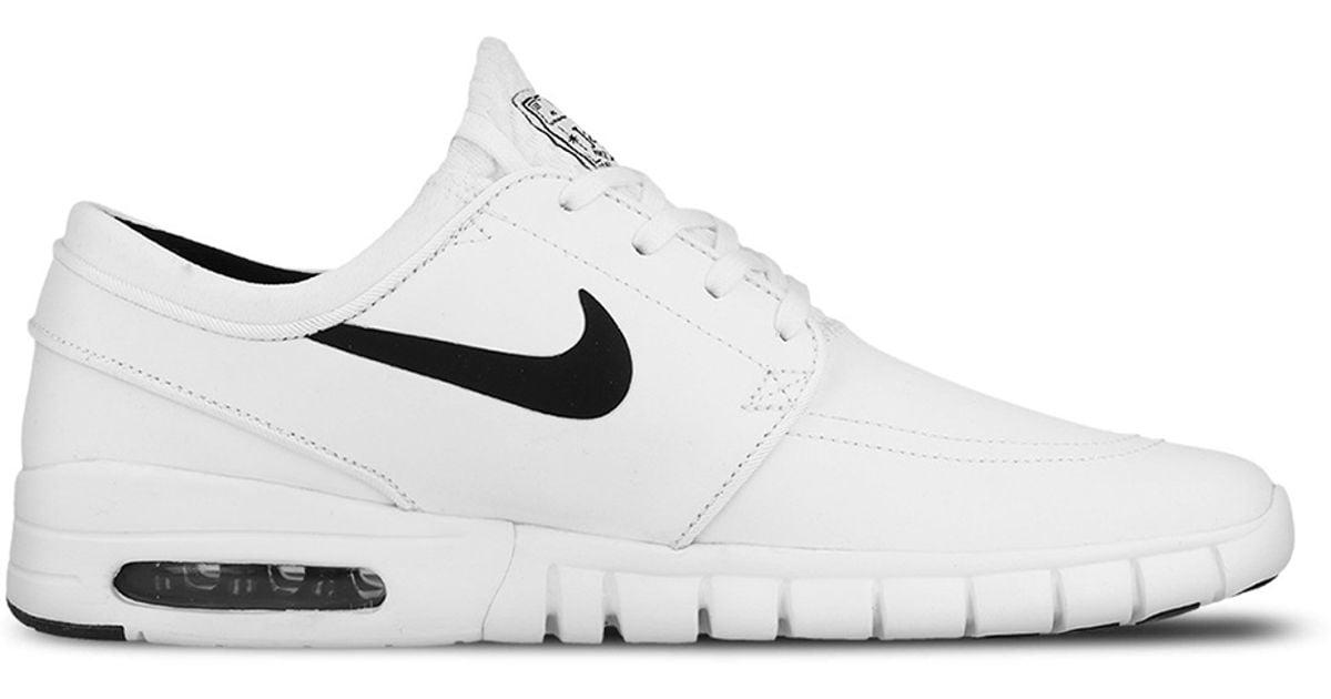 Nike Sb Stefan Janoski Max Suede in White for Men - Lyst