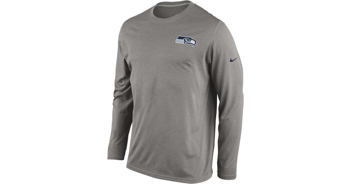 Lyst - Nike Men S Long-Sleeve Seattle Seahawks Dri-Fit T-Shirt in Gray for  Men 072d9804c