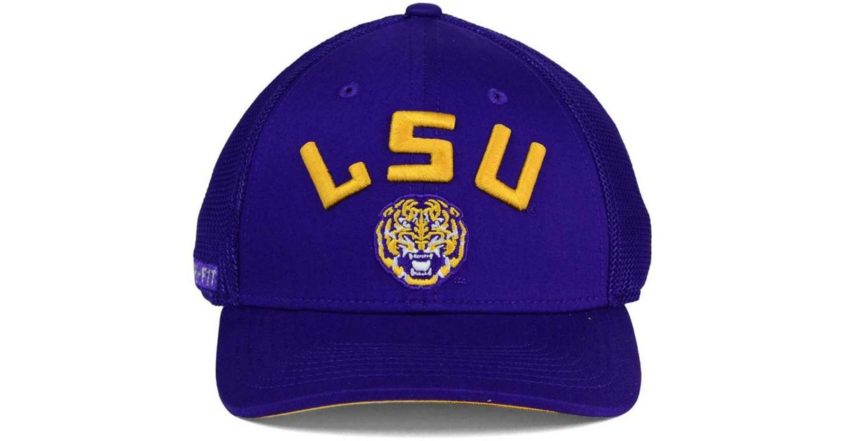 outlet store 92589 1cf6e Nike Lsu Tigers L91 Mesh Swoosh Flex Cap in Blue for Men - Lyst