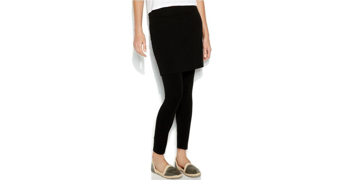 4de6ed8809f249 Eileen Fisher Petite Skirted Leggings in Black - Lyst