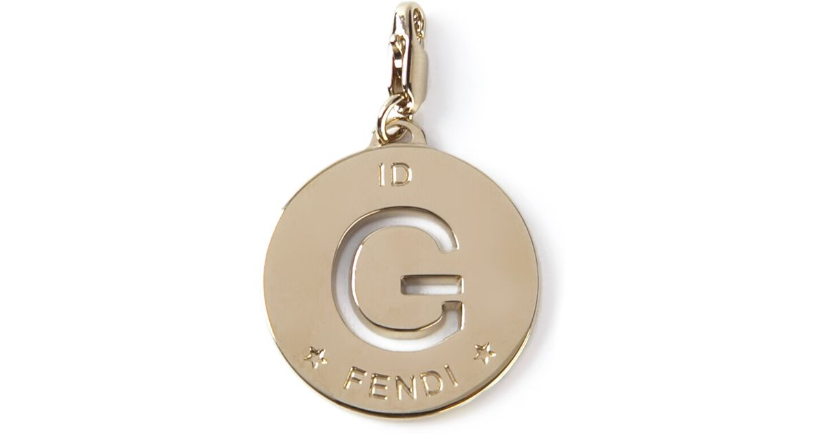 Lyst fendi g id charm in metallic aloadofball Images