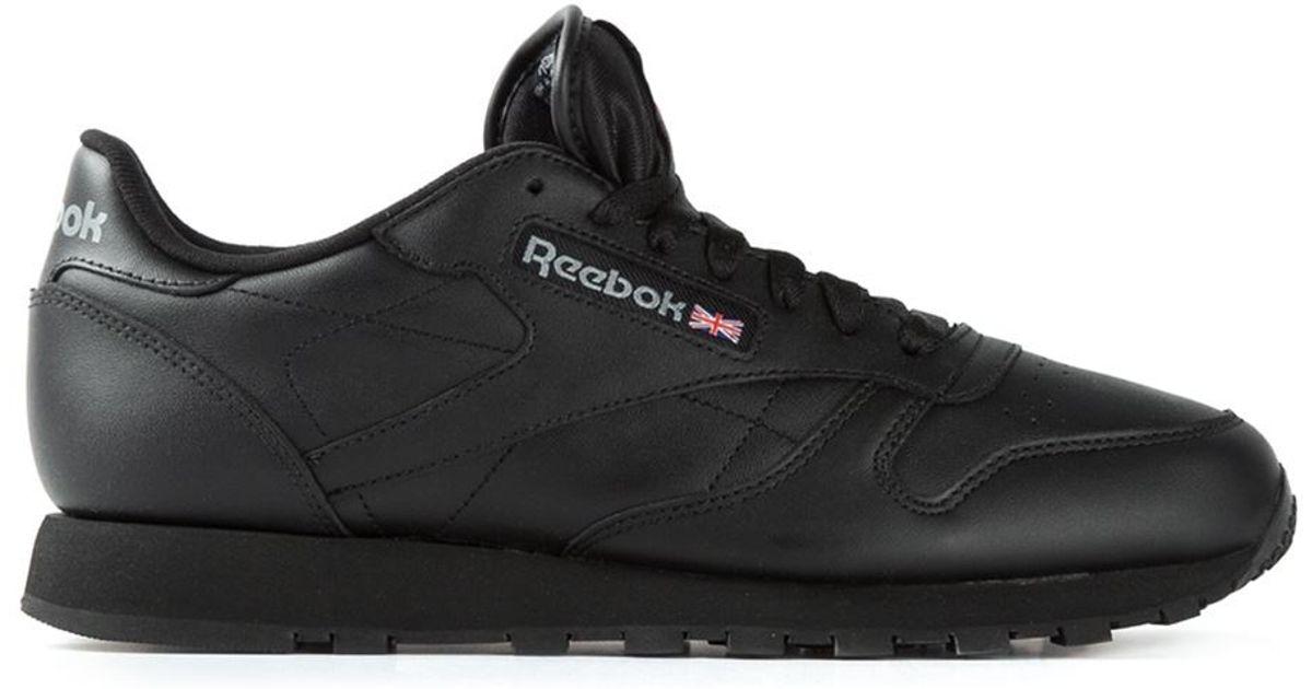 reebok classic sneakers in black for lyst