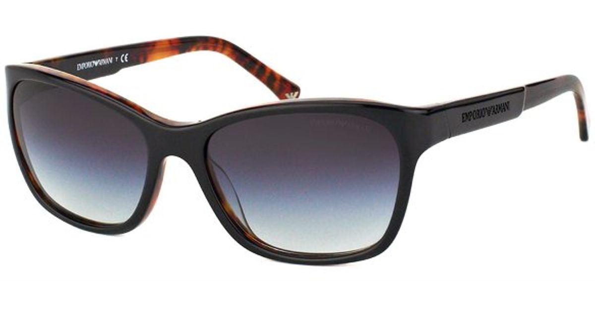 528fba9320b Lyst - Emporio Armani Ea 4004 50498g Black On Havana Plastic Sunglasses Grey  Gradient Lens in Brown