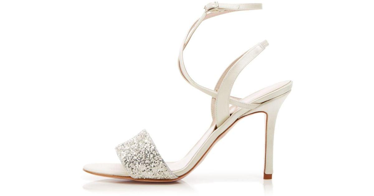 ed1b2817468 kate spade new york - Metallic Open Toe Evening Sandals - Ismar Glitter  High Heel - Lyst