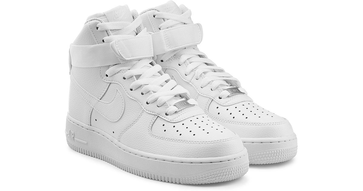Nike Air Force 1 High 07 Leather Sneakers In White For
