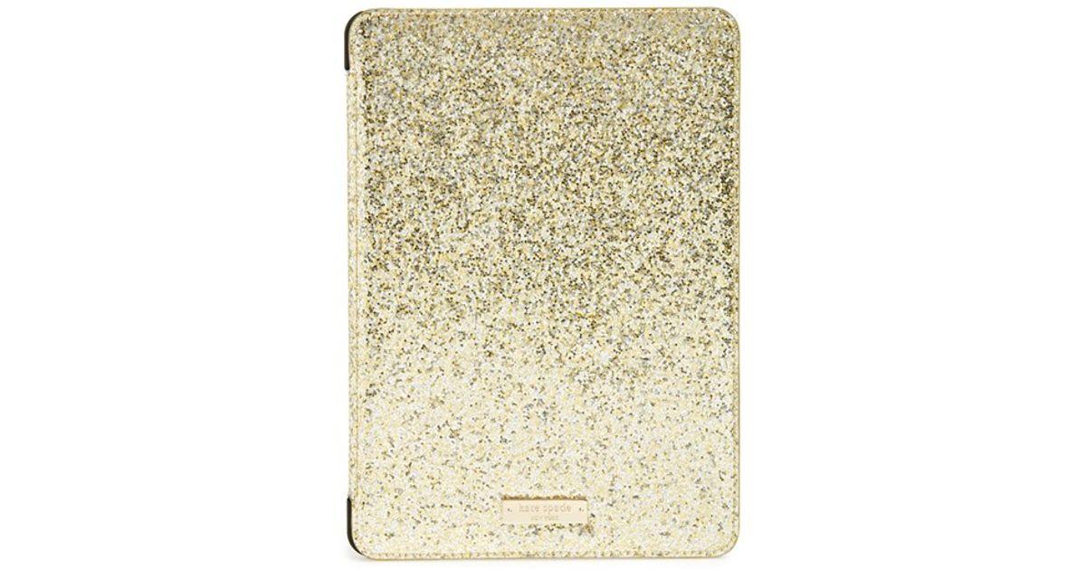 sale retailer 317b1 4683c kate spade new york 'glitterbug' Ipad Air 2 Folio Case - Metallic