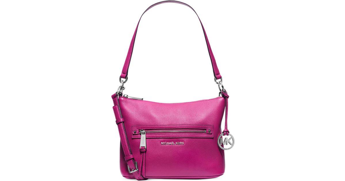 5caf1ebba2e2 Lyst - Michael Kors Michael Rhea Zip Medium Convertible Shoulder Bag in  Black