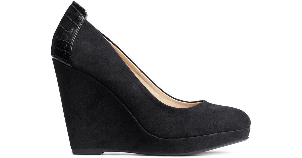 Lyst Hm Wedge Heeled Shoes In Black