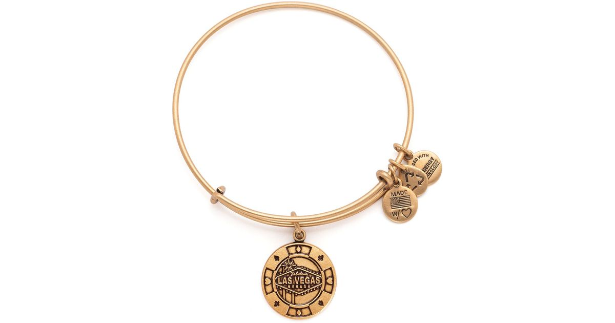 Alex And Ani Las Vegas Expandable Wire Bangle In Metallic Lyst