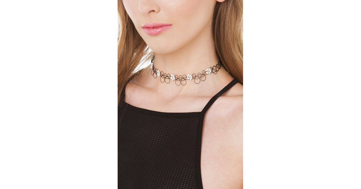 Set of Two MEGA SALE MUST GO Tattoo Choker Necklaces