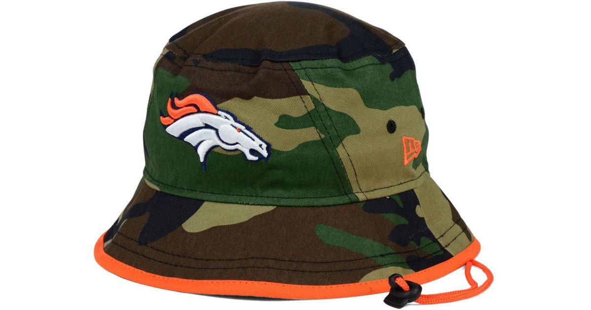 Lyst - KTZ Denver Broncos Camo Pop Bucket Hat in Green for Men 4983ddc21a67