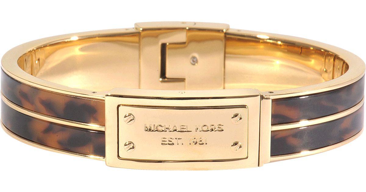 michael michael kors armband color jet set in brown lyst. Black Bedroom Furniture Sets. Home Design Ideas