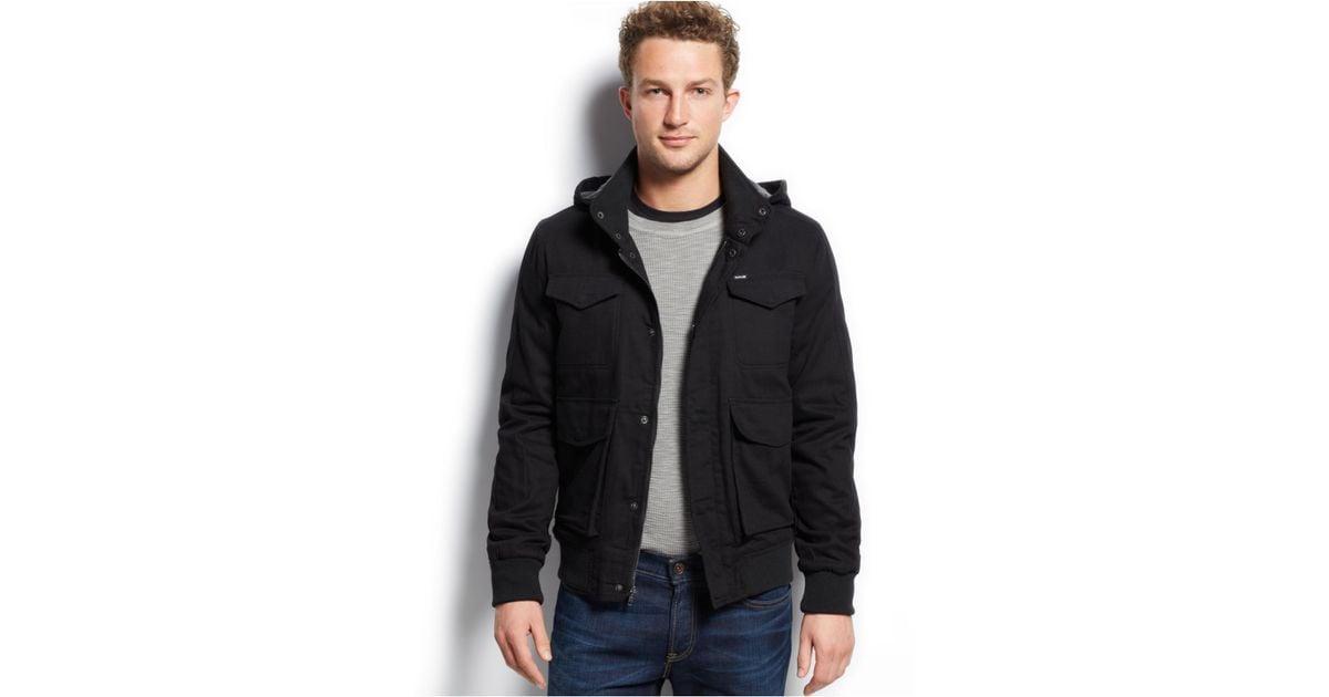 cd5ef0fc8c3 Lyst - Hurley Clifton Fleece-Lined Jacket in Black for Men