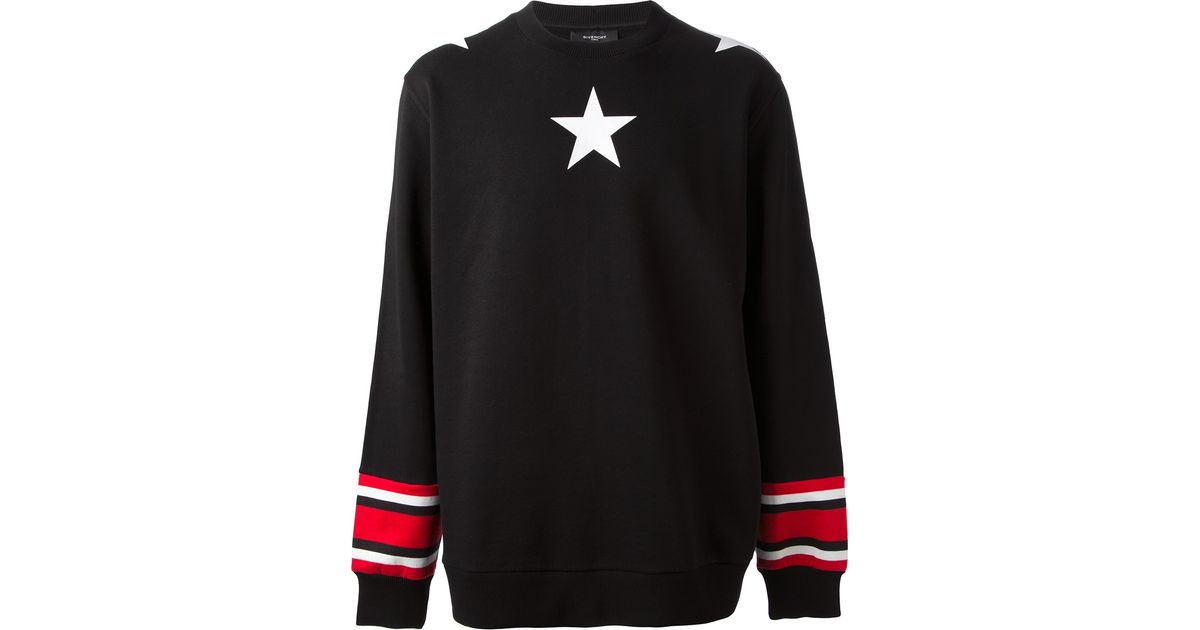 Lyst - Givenchy Star Sweater in Black for Men 8665405d3