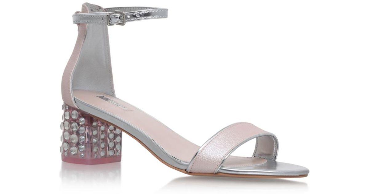 Carvela kurt geiger Groove Block Heel Sandal in Pink | Lyst