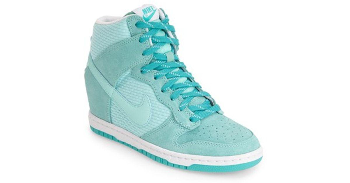 918ce4bd6de Nike  Dunk Sky Hi - Essential  Wedge Sneaker in Blue - Lyst