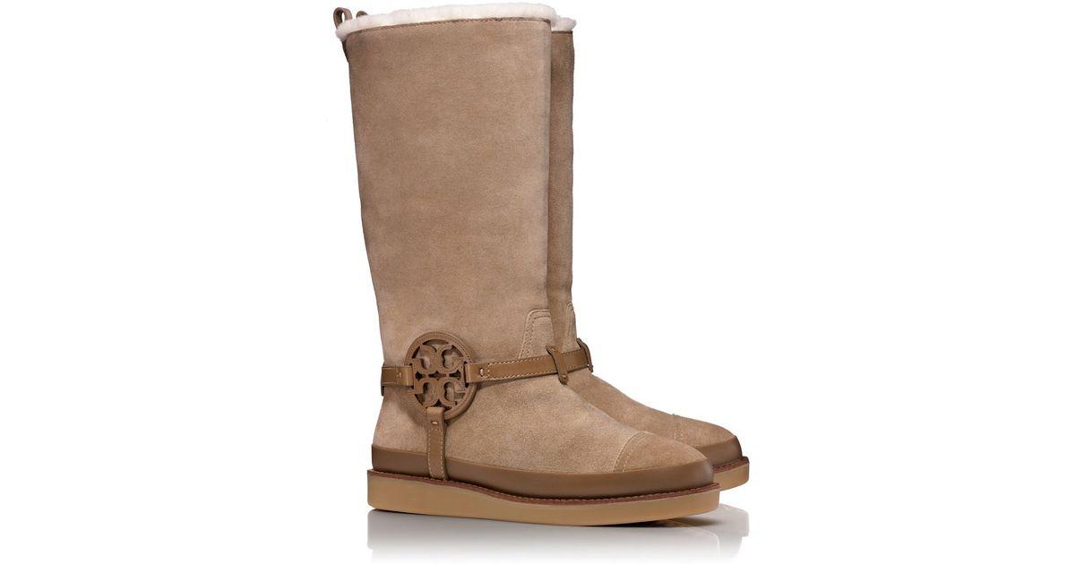 9d491e52cb0d Lyst - Tory Burch Dana Shearling Boot in Natural
