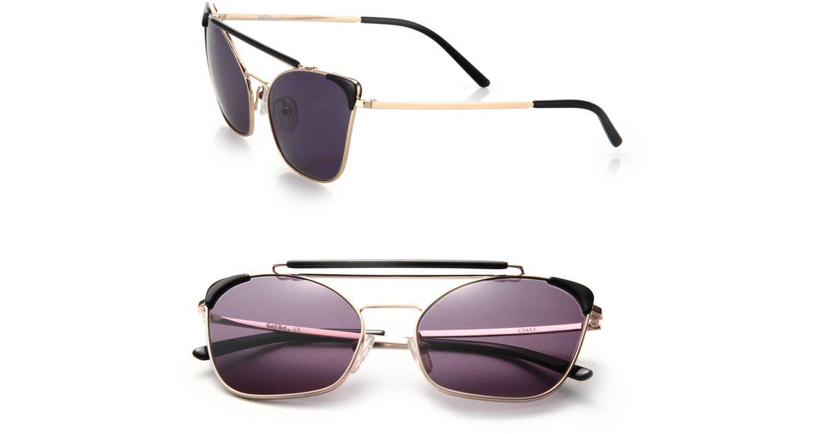 675b89ba0b Lyst - Grey Ant Chat 46mm Cat s-eye Sunglasses in Purple