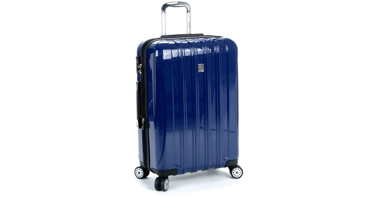 delsey helium aero 25 inch expandable spinner in blue for men lyst. Black Bedroom Furniture Sets. Home Design Ideas