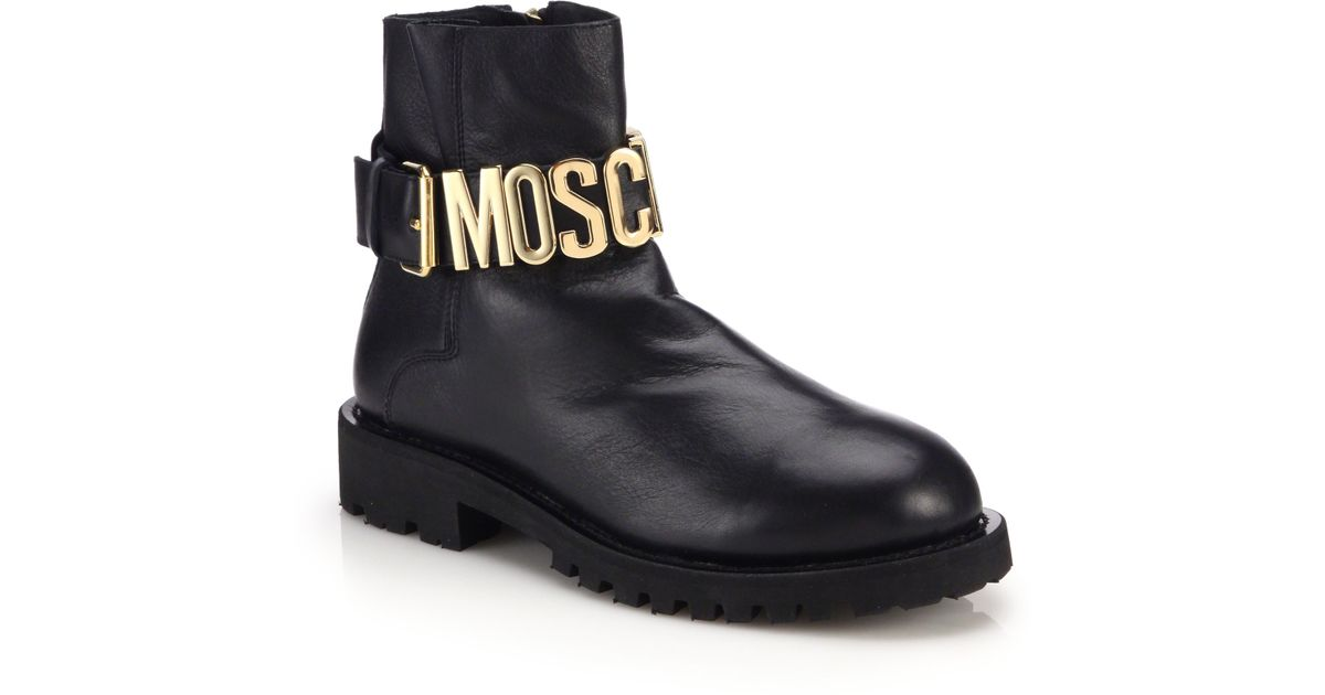 Moschino logo buckle boots buy cheap sast real sale online MkSop0