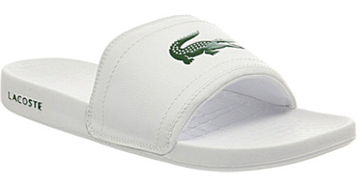 96a8bc85710bf Lacoste Frasier Slider Sandals - For Men in White for Men - Lyst