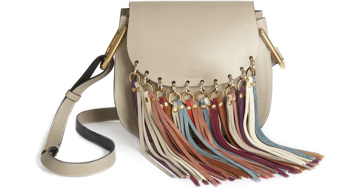 094994cbcf Chloé Gray Hudson Small Leather Cross-Body Bag