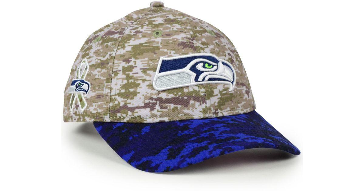 6a9ee7b4 KTZ Blue Women's Seattle Seahawks Salute To Service 9twenty Cap