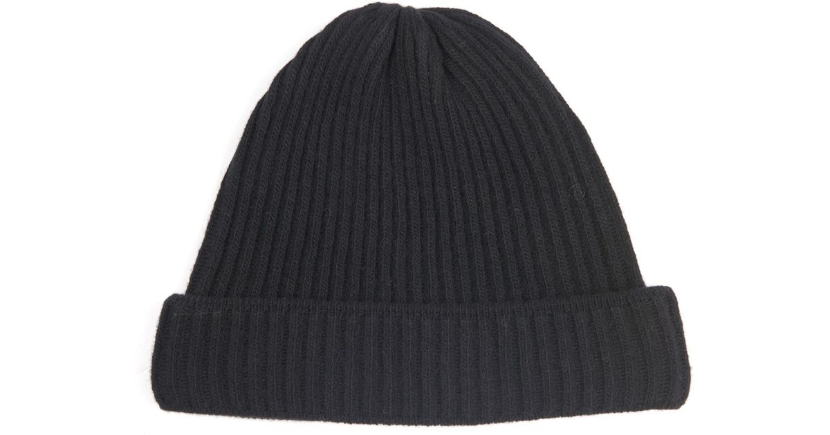 3aed66804ce Lyst - Acne Studios Miles Ribbed-Knit Wool Beanie Hat in Black for Men