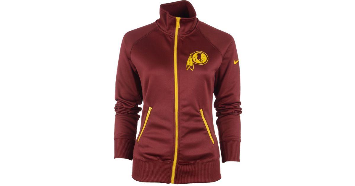 info for 525c9 3ab00 Nike Women's Washington Redskins Mvp Track Jacket for men