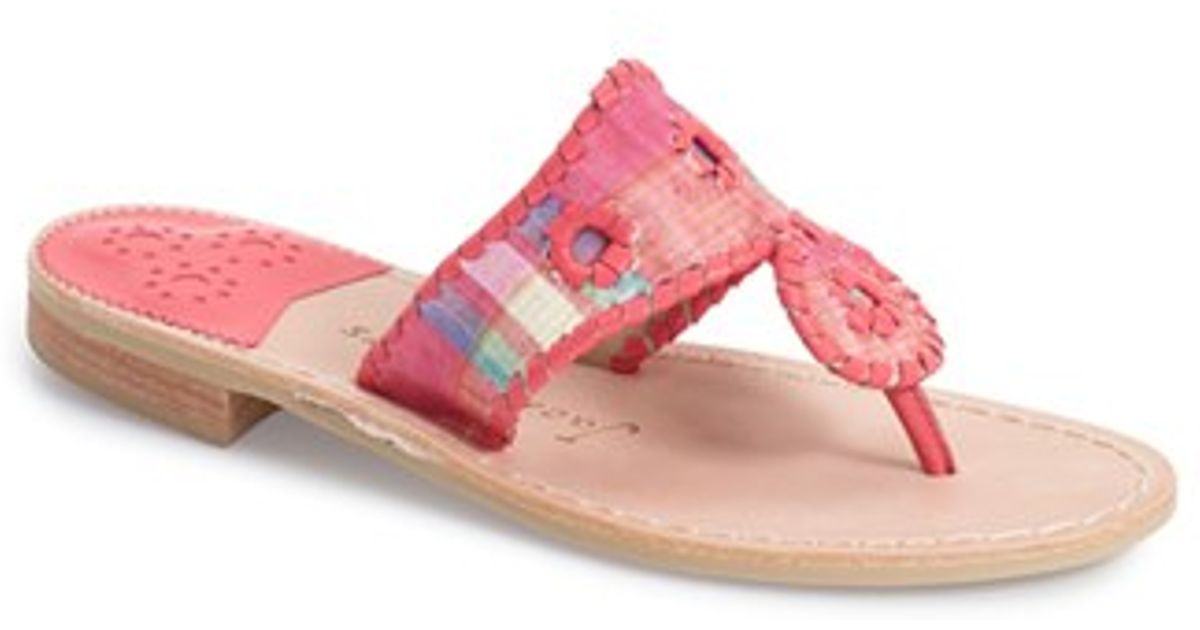 Jack Rogers Pink Kyra Leather Sandal In Pink Lyst