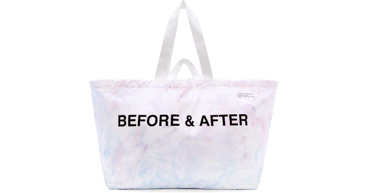 481971eb0 Off-White c/o Virgil Abloh Ssense Exclusive Blue And Purple Tie_dye Tote in  Blue - Lyst