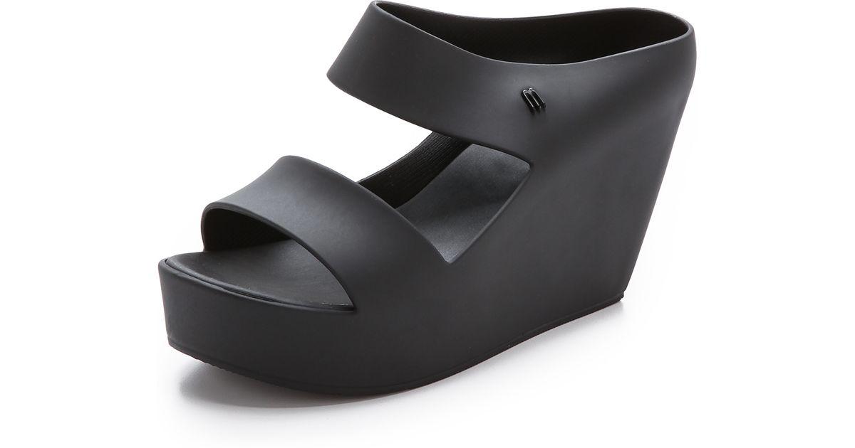 Melissa Melissa Creative Black Creative Wedge Sandals hxQrCdBtso