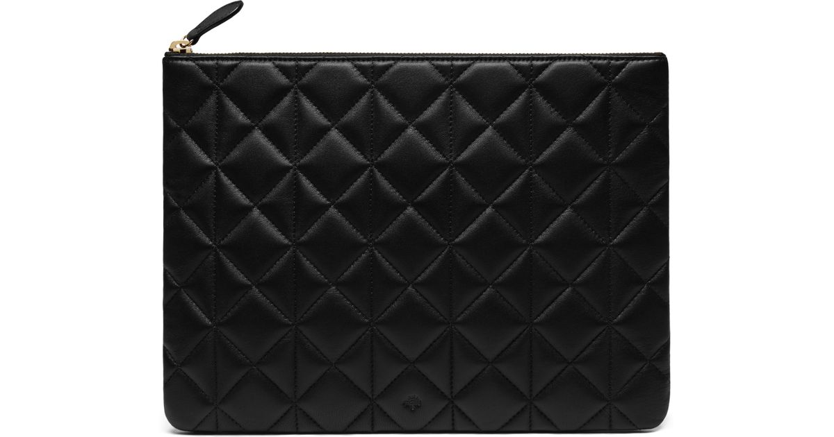 3695974ad3d Mulberry Cara Delevingne Large Pouch in Black - Lyst