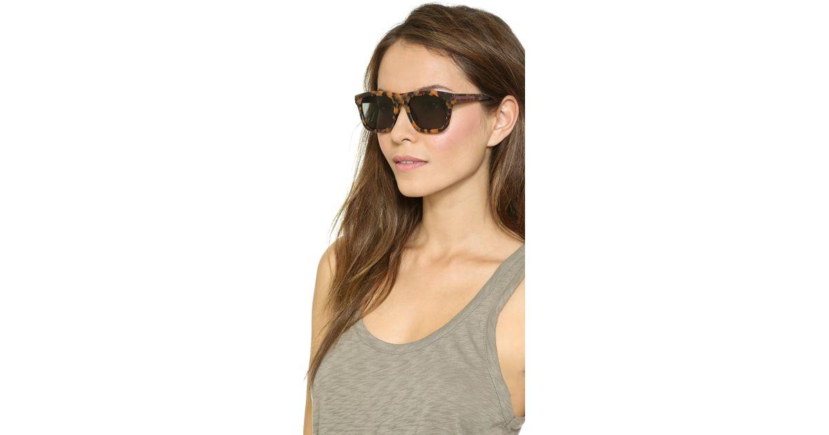 bc9134efd5f7 Lyst - Karen Walker Special Fit Deep Freeze Sunglasses in Brown