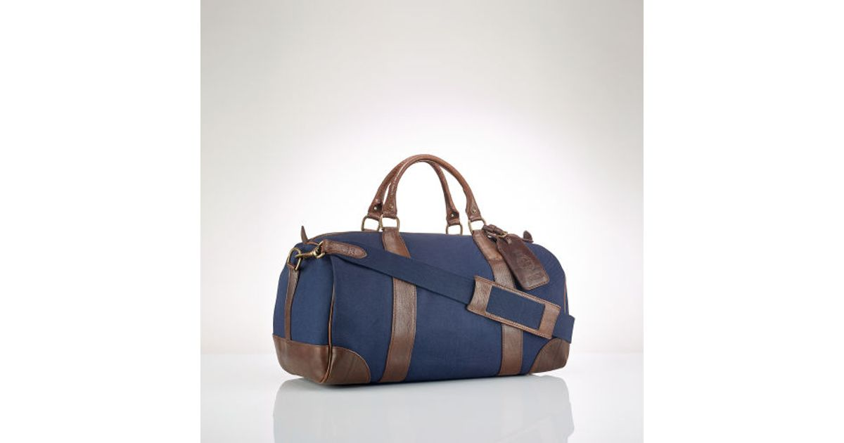 2b6ab4a77089 ... spain lyst polo ralph lauren canvas leather gym bag in blue for men  6990a a59cf