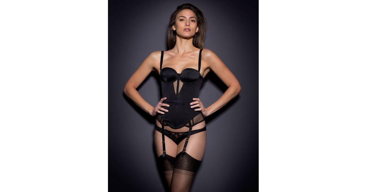 397660ae06 Agent provocateur sonia corset black in black lyst jpg 1200x630 Agent  provocateur corset black