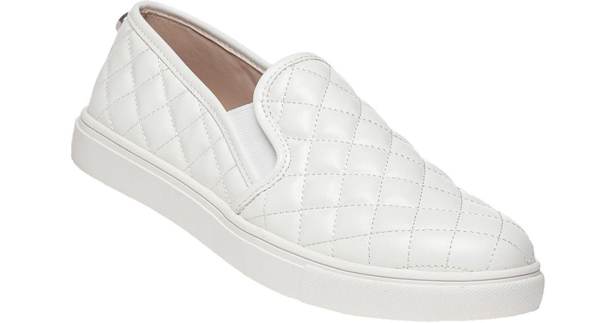 all white steve madden shoes