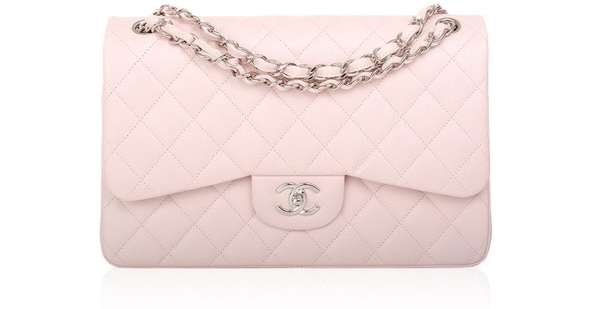 aa05c4ee807c Madison Avenue Couture Chanel Baby Pink Quilted Caviar Jumbo Classic Bag in  Pink - Lyst