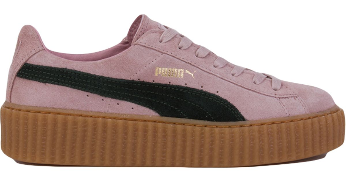 fdd545d1bb4 Lyst - PUMA X Rihanna Suede Creepers in Pink