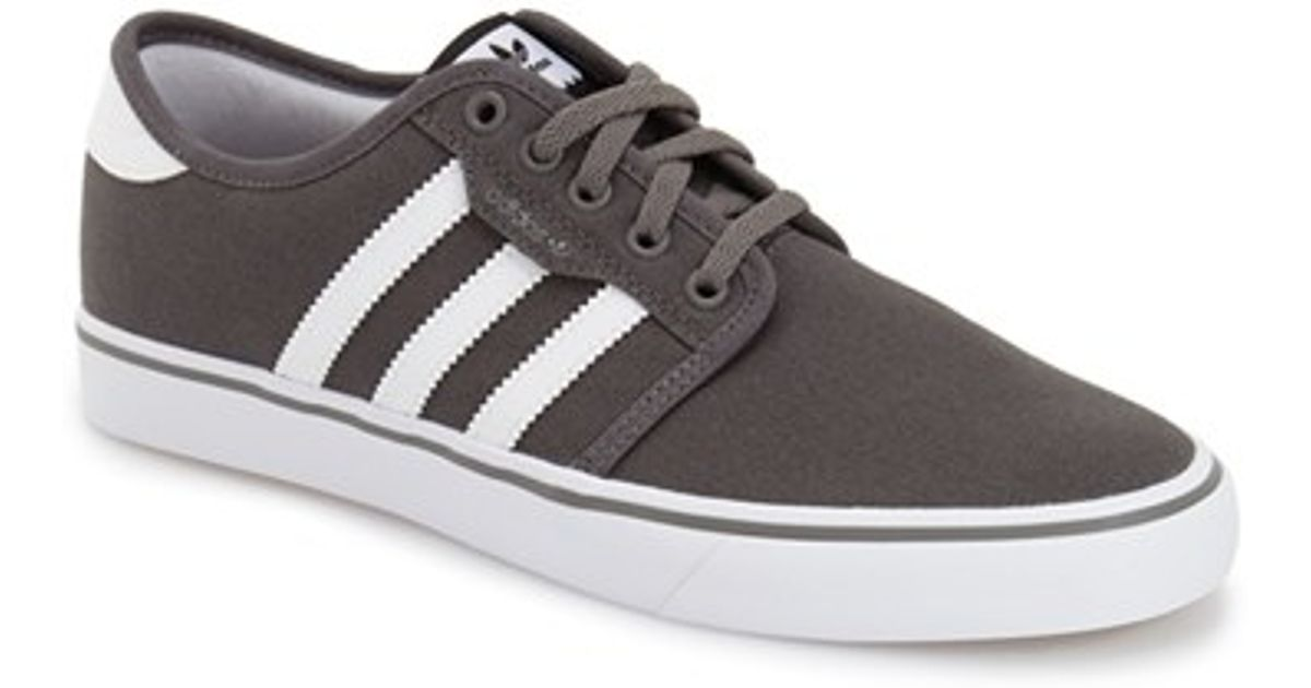 Mens Adidas Low Profile Shoes Gray And White