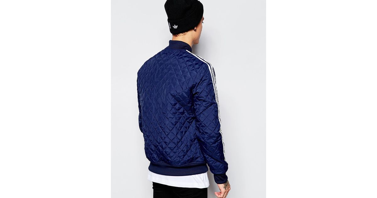 Adidas Originals Blue Reversible Track Jacket With Shoebox Print Aj6993 for men