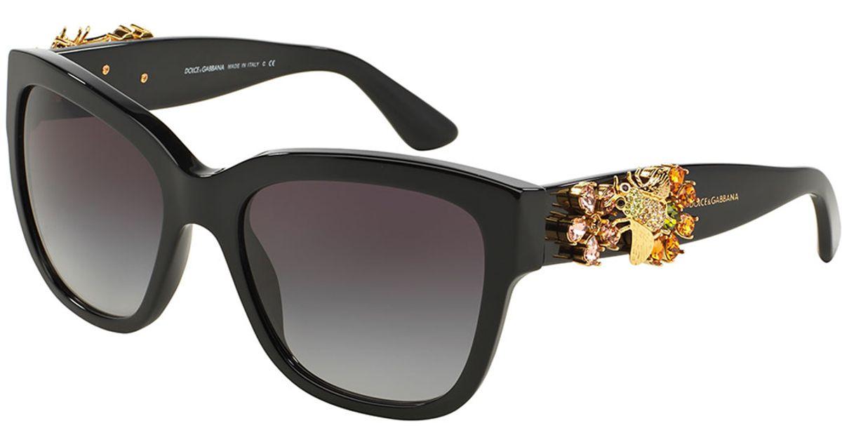 Lyst - Dolce & Gabbana Dolce & Gabbana Jewel-Encrusted Sunglasses in ...