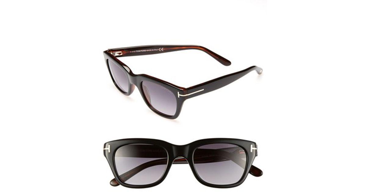tom ford 39 snowdon 39 50mm sunglasses shiny black in black. Black Bedroom Furniture Sets. Home Design Ideas