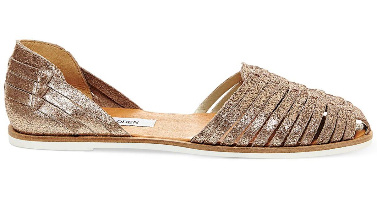 cc387355ac98 Lyst - Steve Madden Women s Hillarie Huarache Slip-on Sandals in Metallic