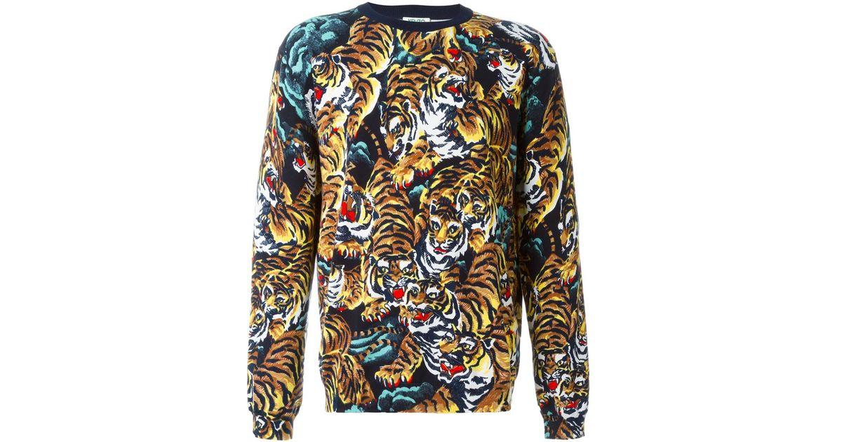 7c46703a Sweatshirt 'flying Lyst Kenzo Tiger' Men For ARx1qT