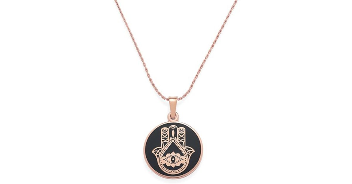 3494fe656347f ALEX AND ANI Pink 'hand Of Fatima' Necklace