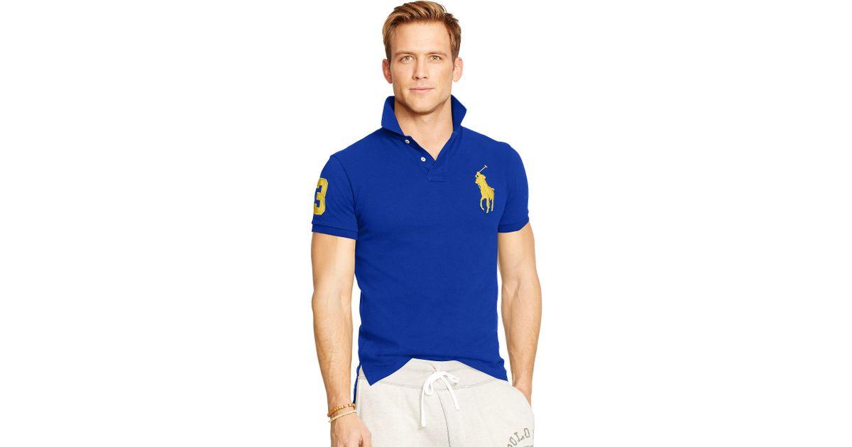 Pony Lauren Ralph Fit Big For Blue Polo Custom Men VpLzjUMqSG